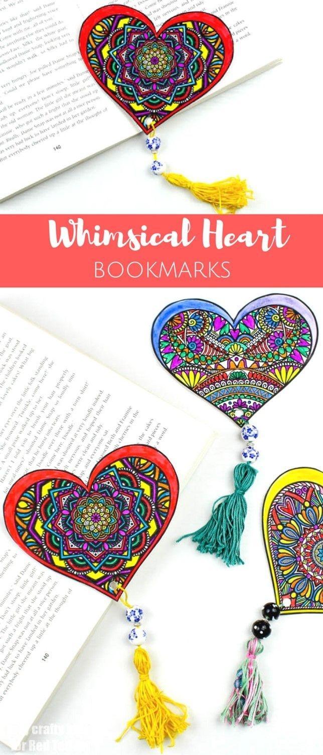 Printable Valentine's Bookmark Designs | For Teachers | Printable - Free Printable Heart Designs