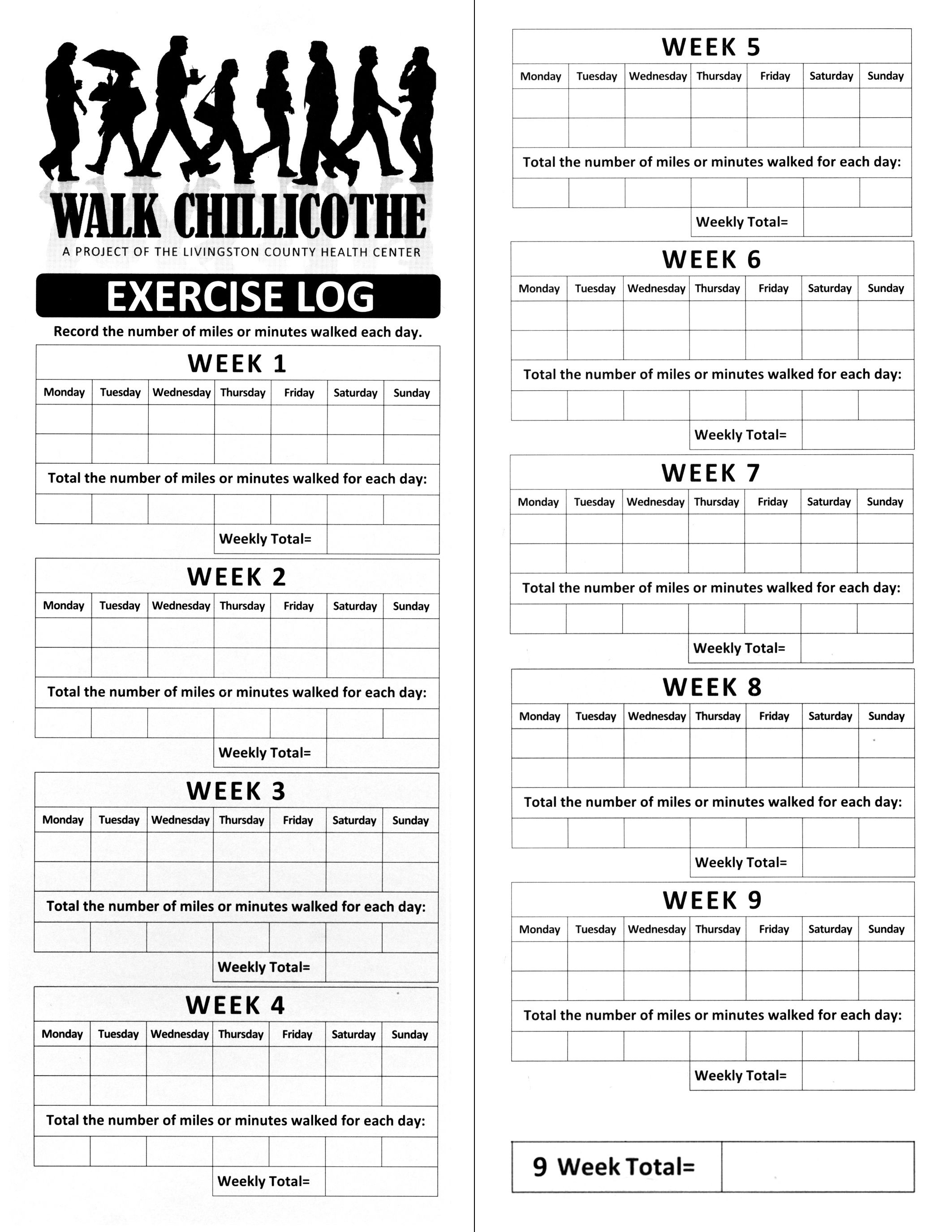 Printable Walking Log. | W I S H F U L ◇ T H I N K I N G | Fitness - Free Printable Walking Log