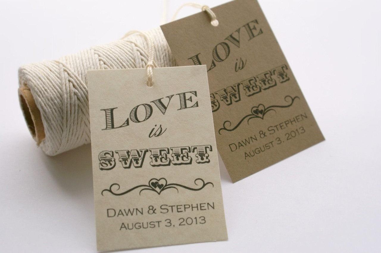 Printable Wedding Favor Tags ~ Wedding Invitation Collection - Free Printable Wedding Thank You Tags