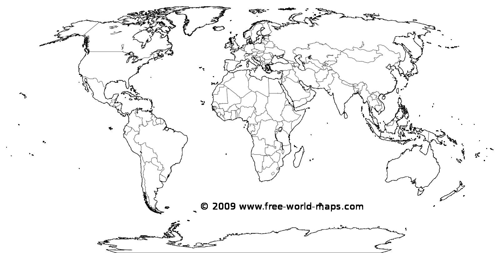 Printable World Map Free - Maplewebandpc - Free Printable Blank World Map Download