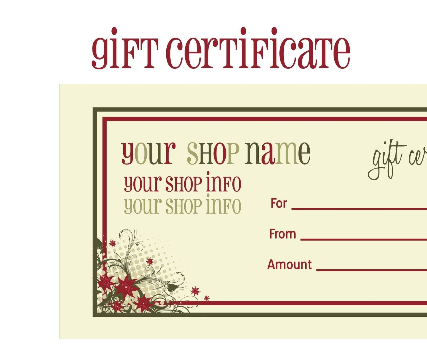Printable+Christmas+Gift+Certificate+Template | Massage Certificate - Free Printable Gift Certificate Templates For Massage