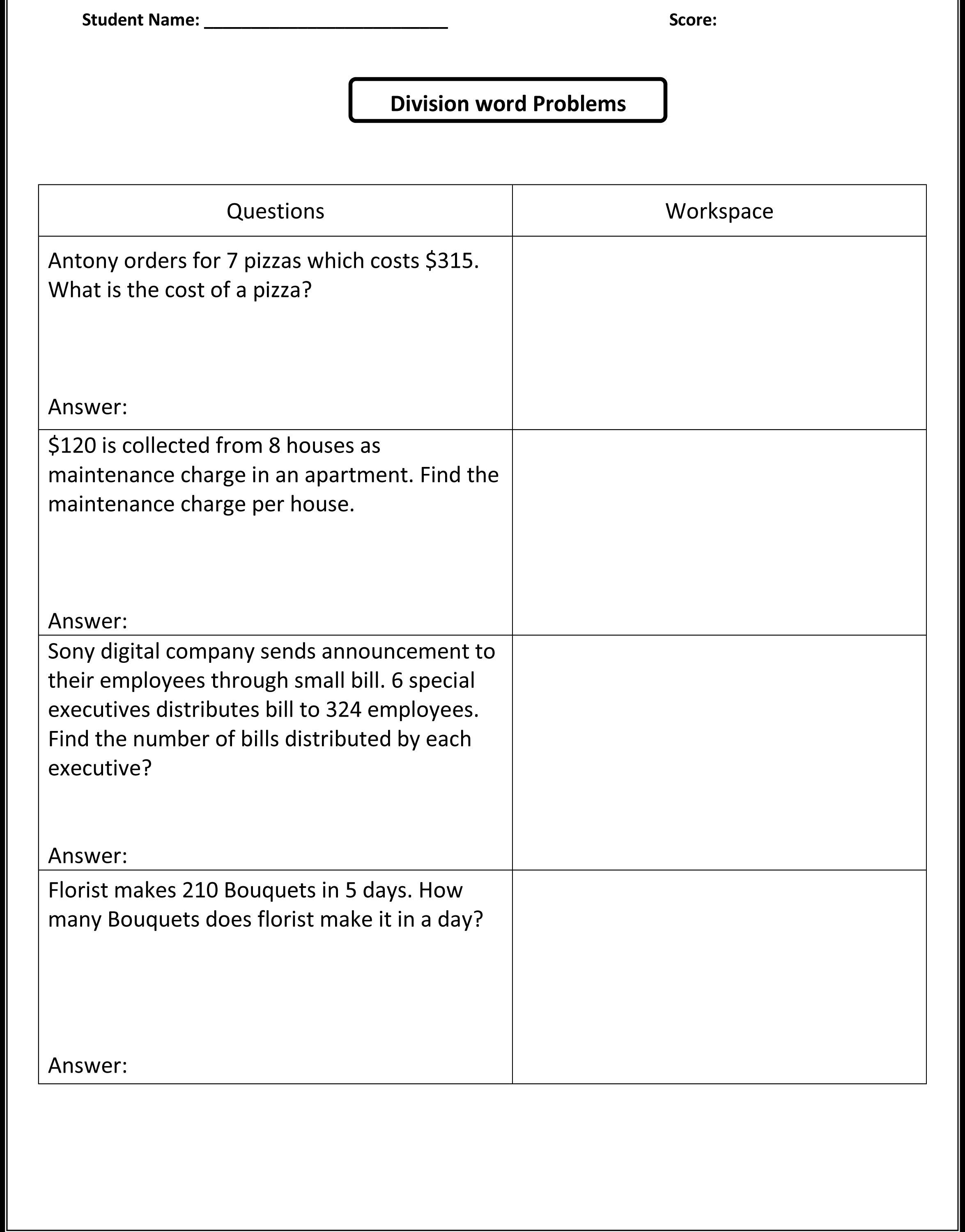 Printables Free Integer Word Problems Worksheet Integer Word - Free Printable Menu Math Worksheets
