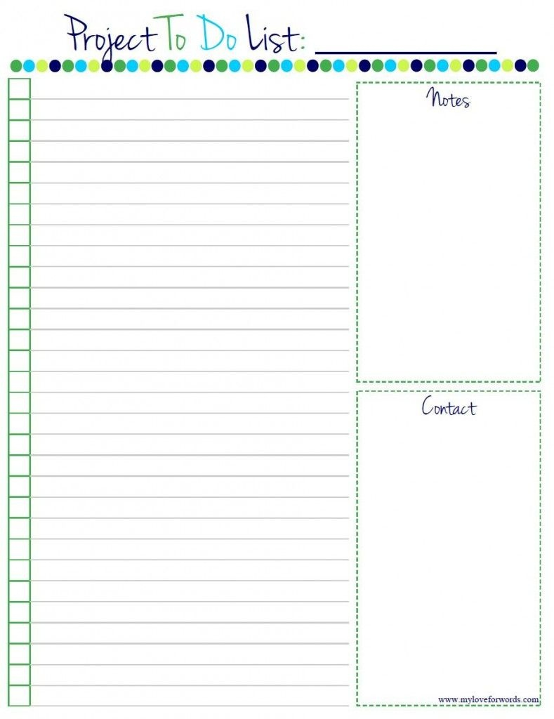 Project To Do List: Free Printable!   Home Manage Binder {Free}   To - Free Printable To Do List