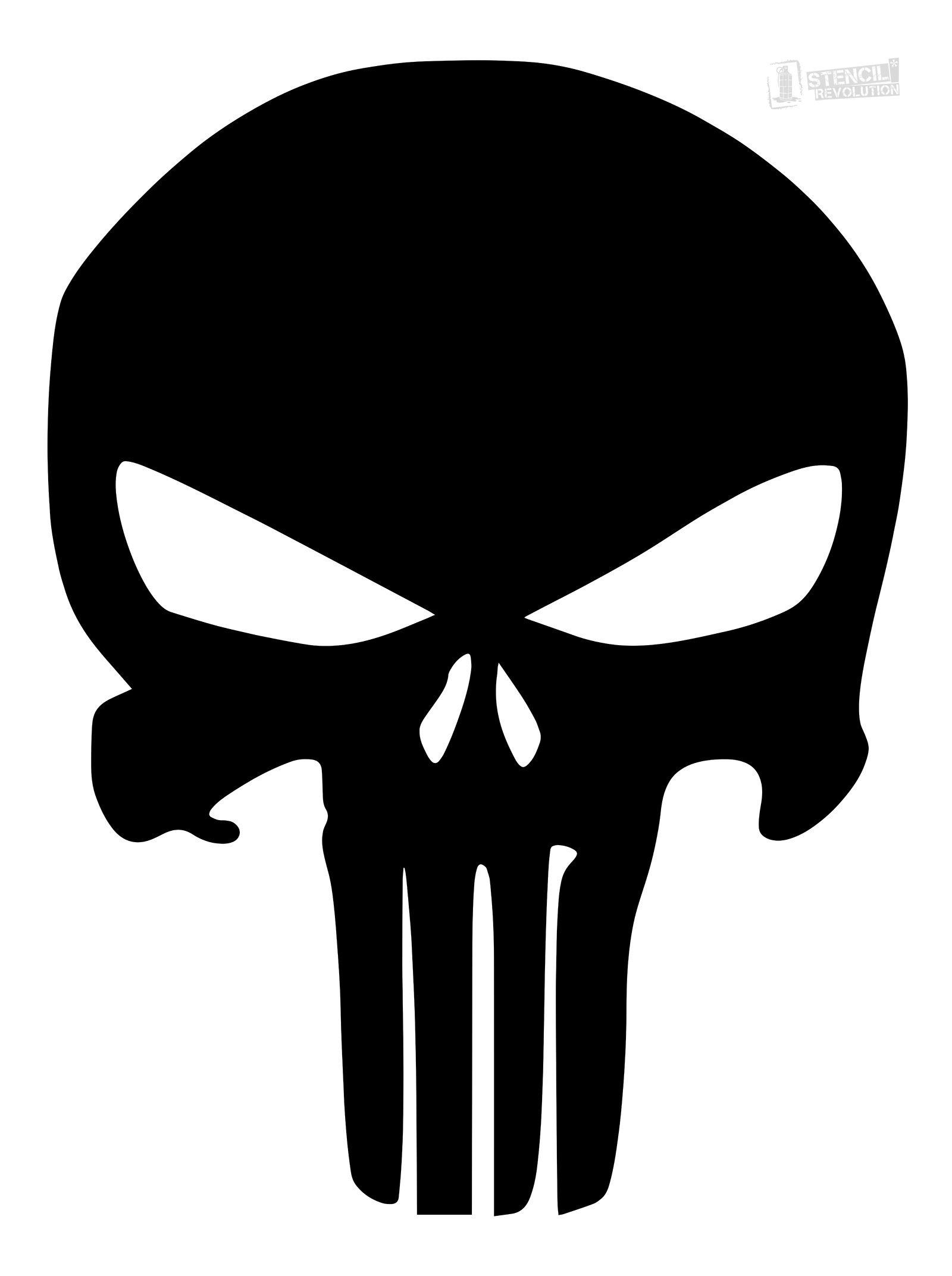 Punisher Skull Stencil   Firearms   Skull Stencil, Printable Stencil - Skull Stencils Free Printable