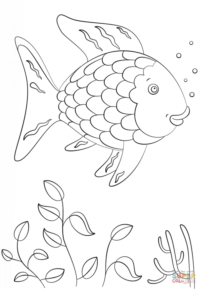 Rainbow Fish Coloring Page | Free Printable Coloring Pages - Free Printable Fish Coloring Pages
