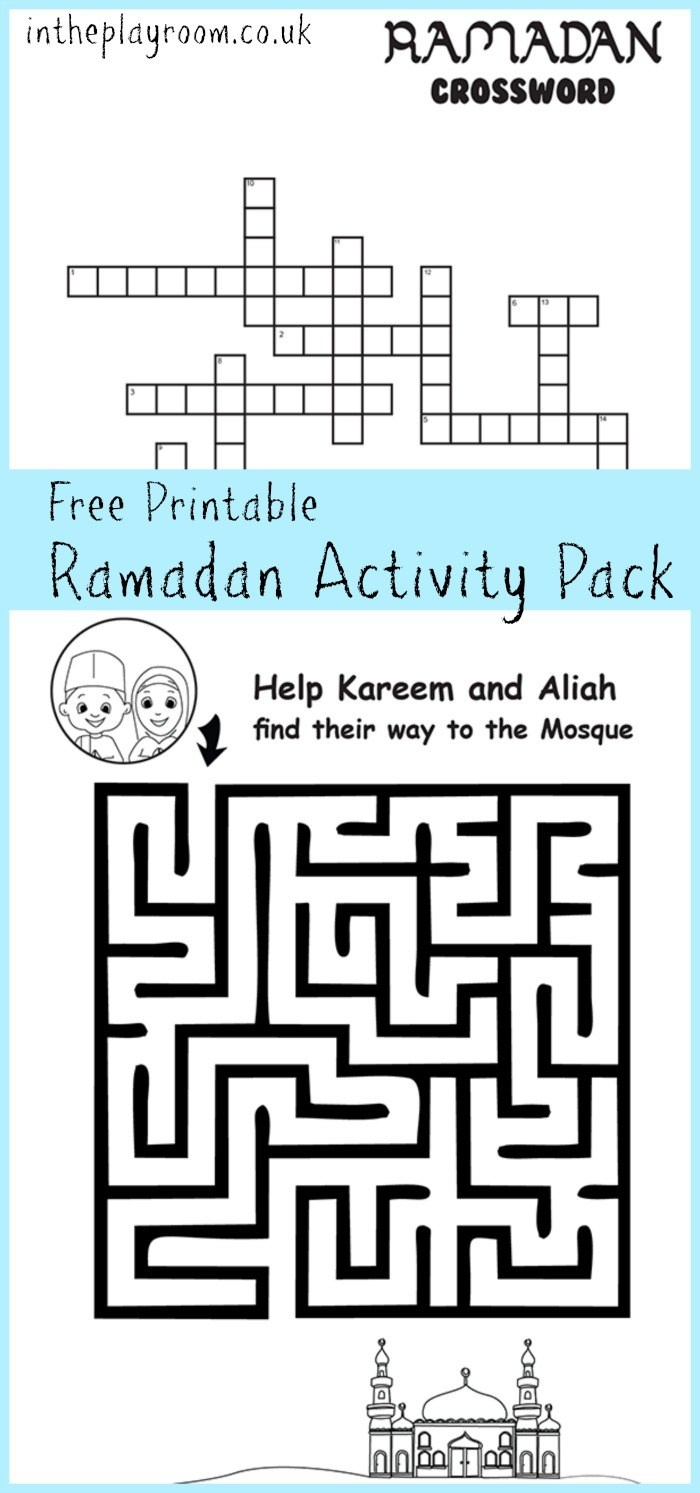 Ramadan Maze And Crossword Printable Activities - In The Playroom - Free Printable Activities For 6 Year Olds