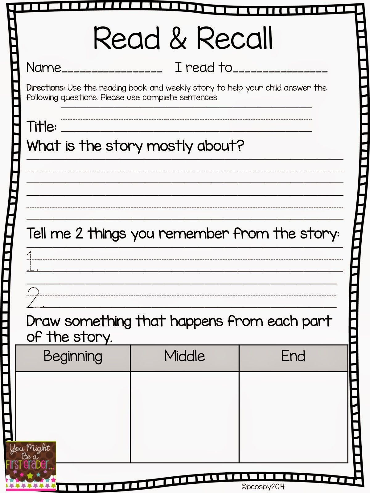 Reading Comprehension | Classroom Freebies! | First Grade Reading - Free Printable Reading Games For 2Nd Graders
