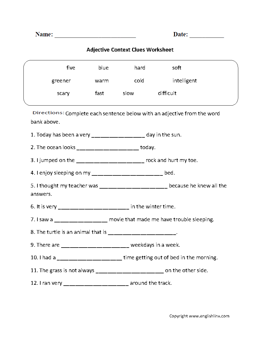 Reading Worksheets | Context Clues Worksheets - Free Printable 5Th Grade Context Clues Worksheets