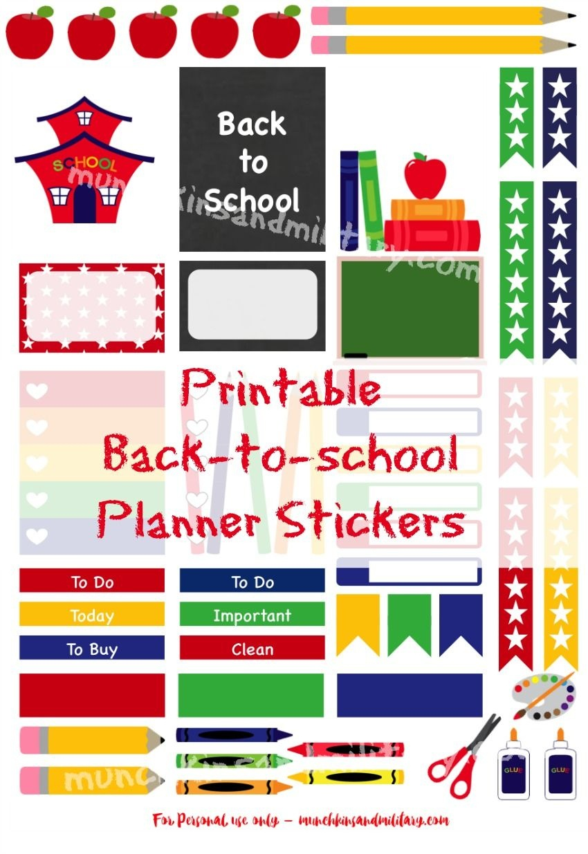 Ready For School?! Don't Miss A Thing With These Printable Stickers - Free Printable Stickers For Teachers