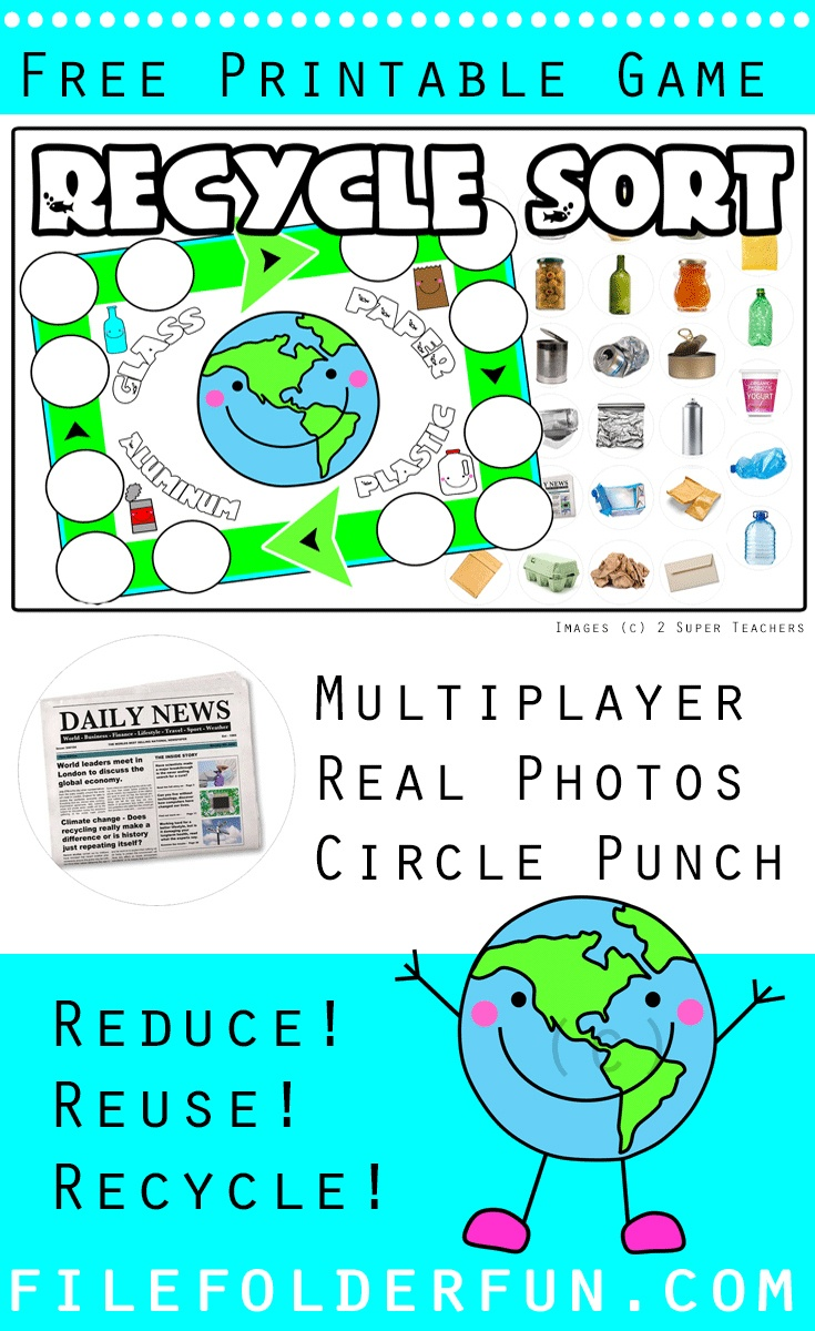 Recycle File Folder Game - The Crafty Classroom - Free Printable Fall File Folder Games