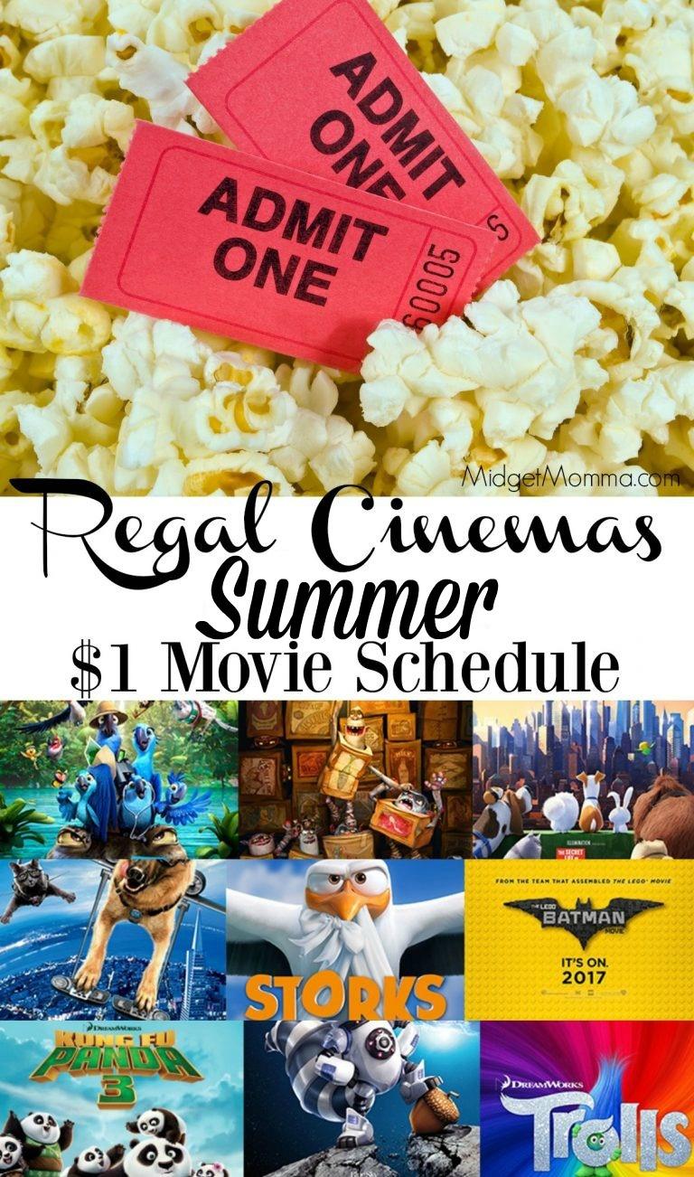 Regal Cinemas Summer Movies! Movies For Just $1! Full Schedule! - Regal Cinema Free Popcorn Printable Coupons