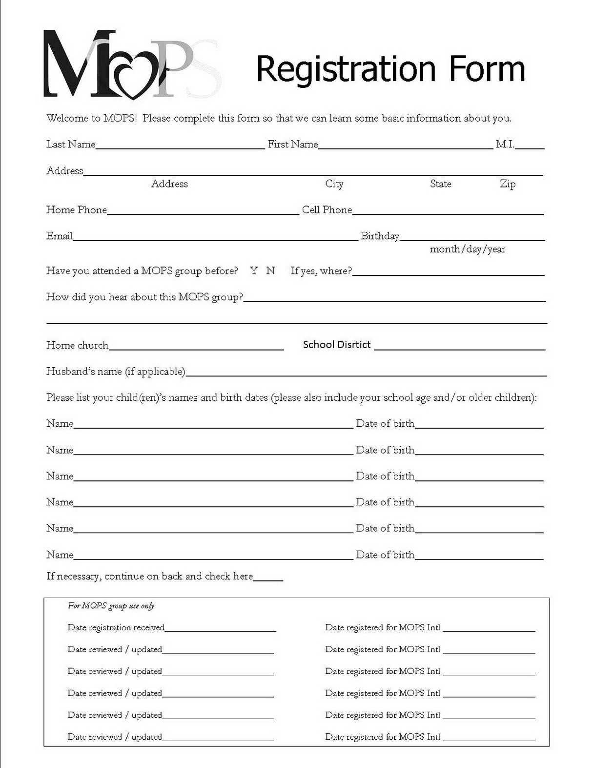 Registration Form Templates Free Download - Demir.iso-Consulting.co - Free Printable Membership Forms