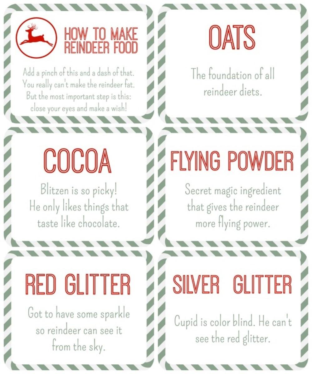 Reindeer Food Free Printables - Momtrends - Reindeer Food Poem Free Printable