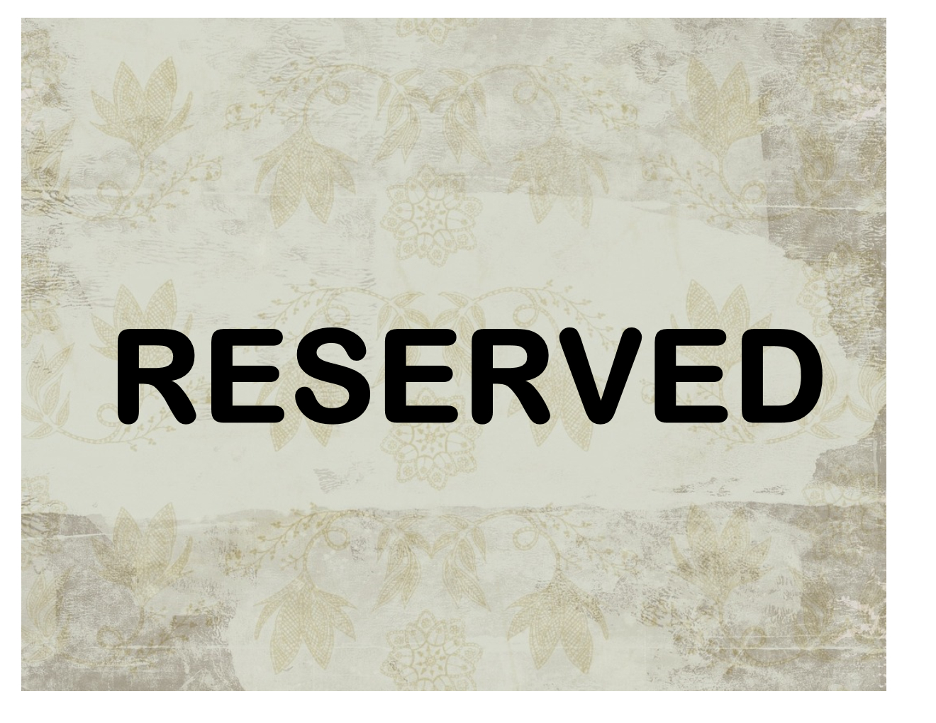 Reserved Sign - Free Printable Sign Templates