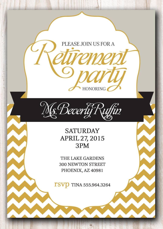 Retirement Party Invitation Template Microsoft | Retirment Party - Free Printable Retirement Party Flyers