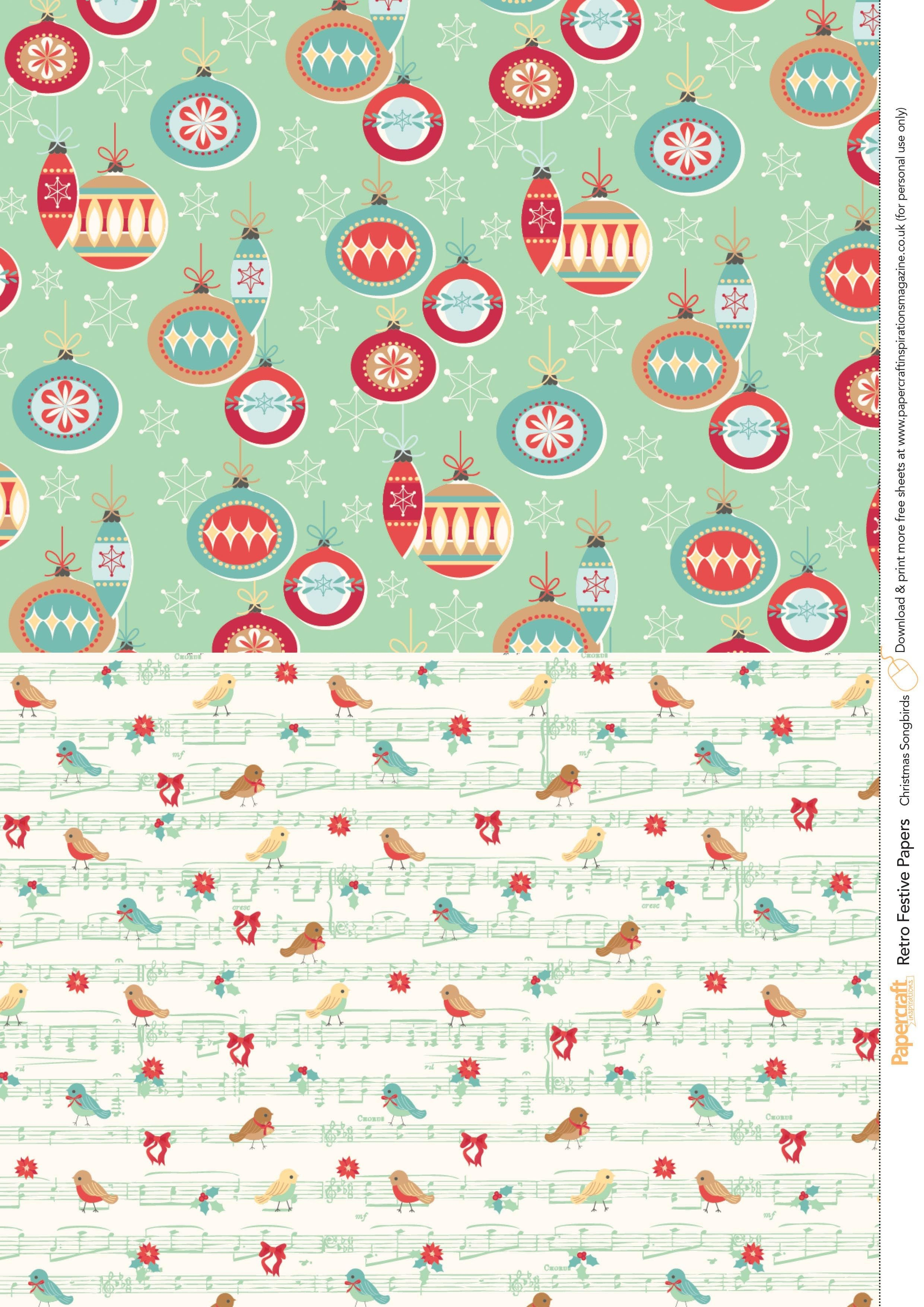Retro Festive Free Printables From Papercraft Inspirations 145 - Free Printable Pattern Paper Sheets