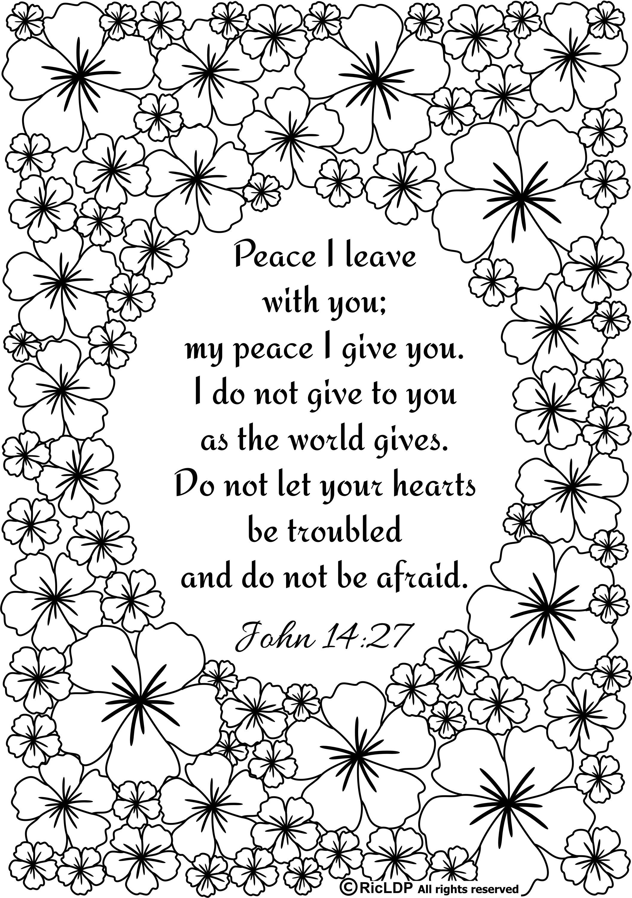 Ricldp Artworks (Ricldp) | Coloring Pages!!! | Bible Verse Coloring - Free Printable Bible Coloring Pages