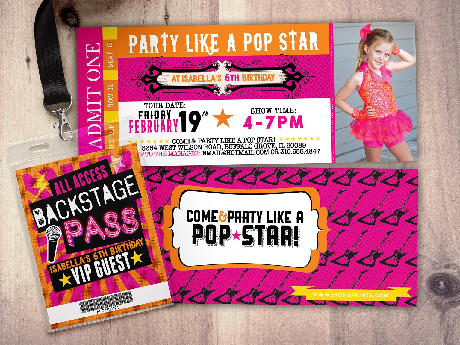 Rock Star Concert Ticket, Birthday Party Invitation- Music Invitation - Free Printable Karaoke Party Invitations