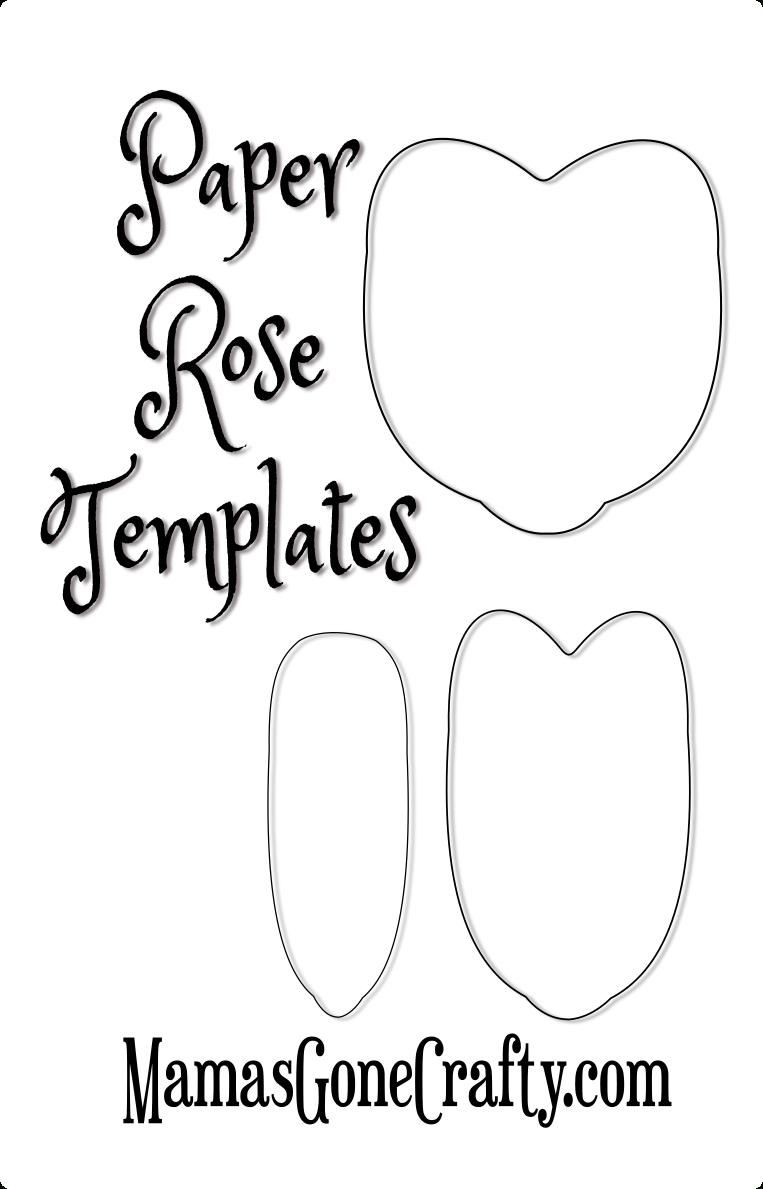 Rose Petal Printable Templates   Paper Crafts   Paper Flowers Diy - Free Paper Flower Templates Printable