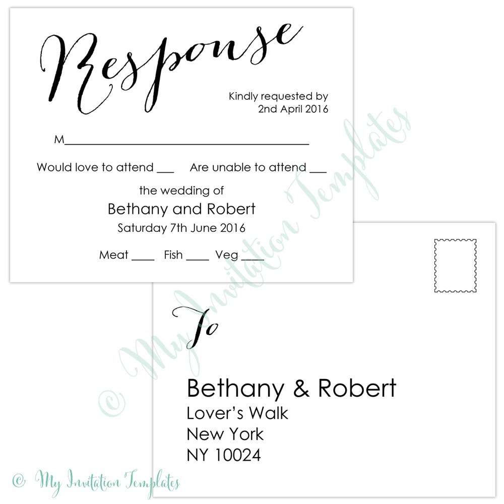 Rsvp Cards Template Free - Savethemdctrails - Free Printable Rsvp Cards