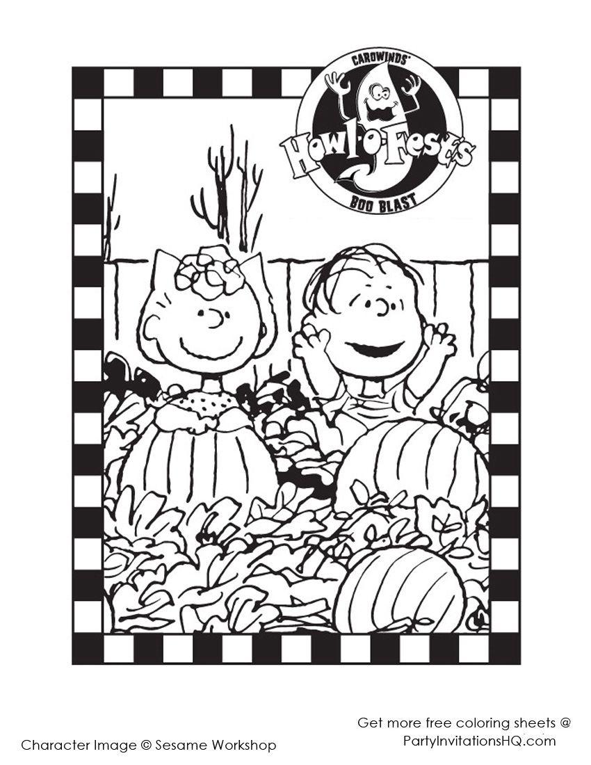 Sally And Linus Hallowen | Linus | Halloween Coloring, Halloween - Free Printable Charlie Brown Halloween Coloring Pages