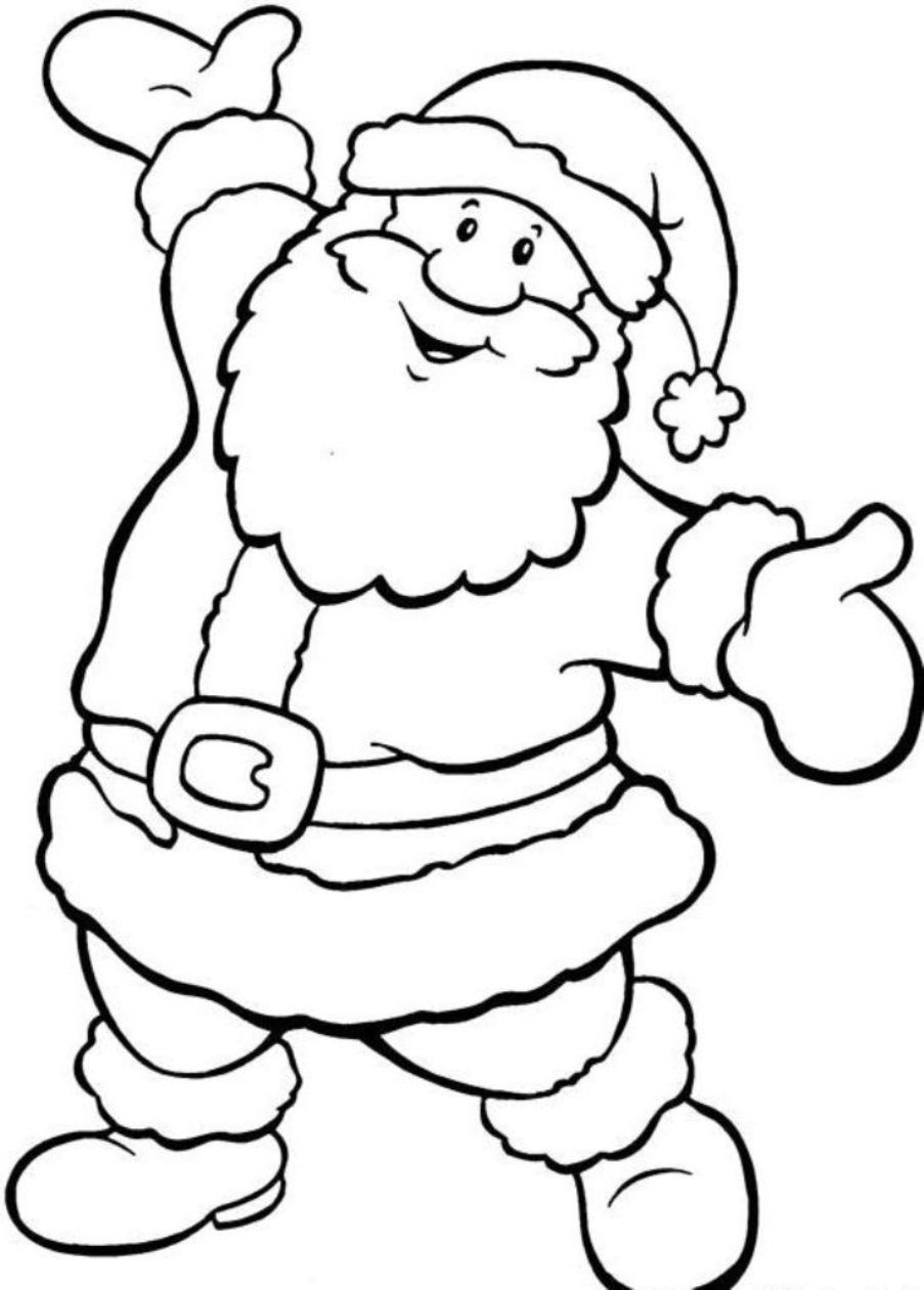 Santa Coloring Pictures Free - Google Search   Grafomotorno   Santa - Santa Coloring Pages Printable Free