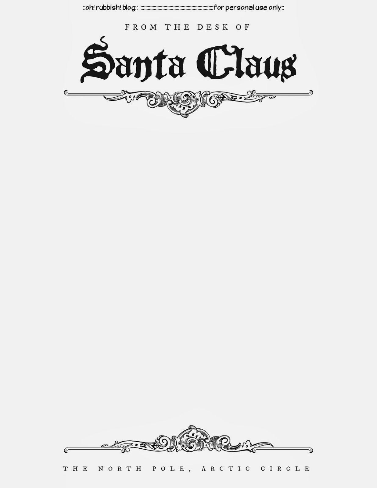Santa Letter Templates | Christmas Printables 5 | Santa Letter - Free Printable Letter From Santa Template