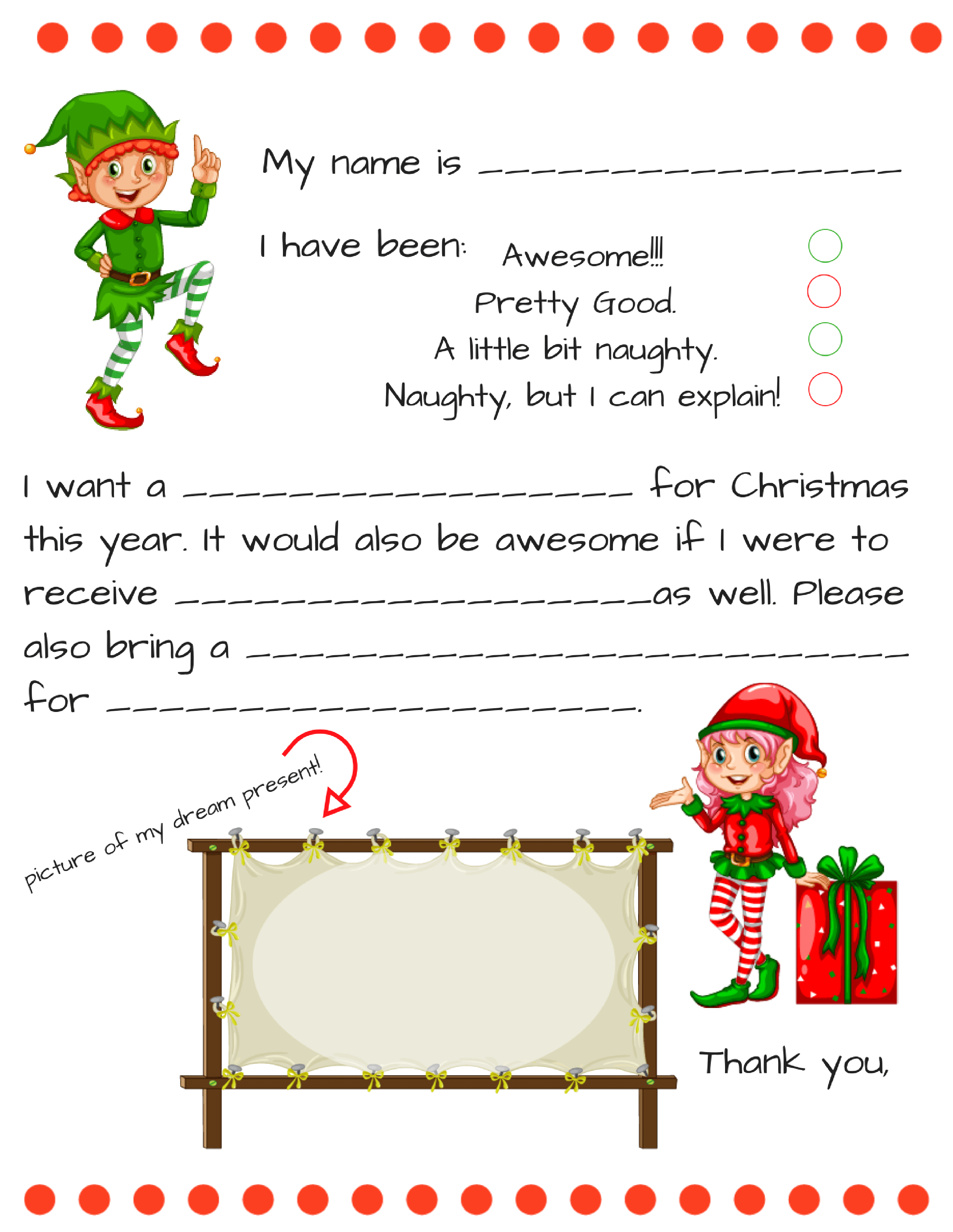 Santa Letters Templates - Tutlin.psstech.co - Free Printable Dear Santa Stationary