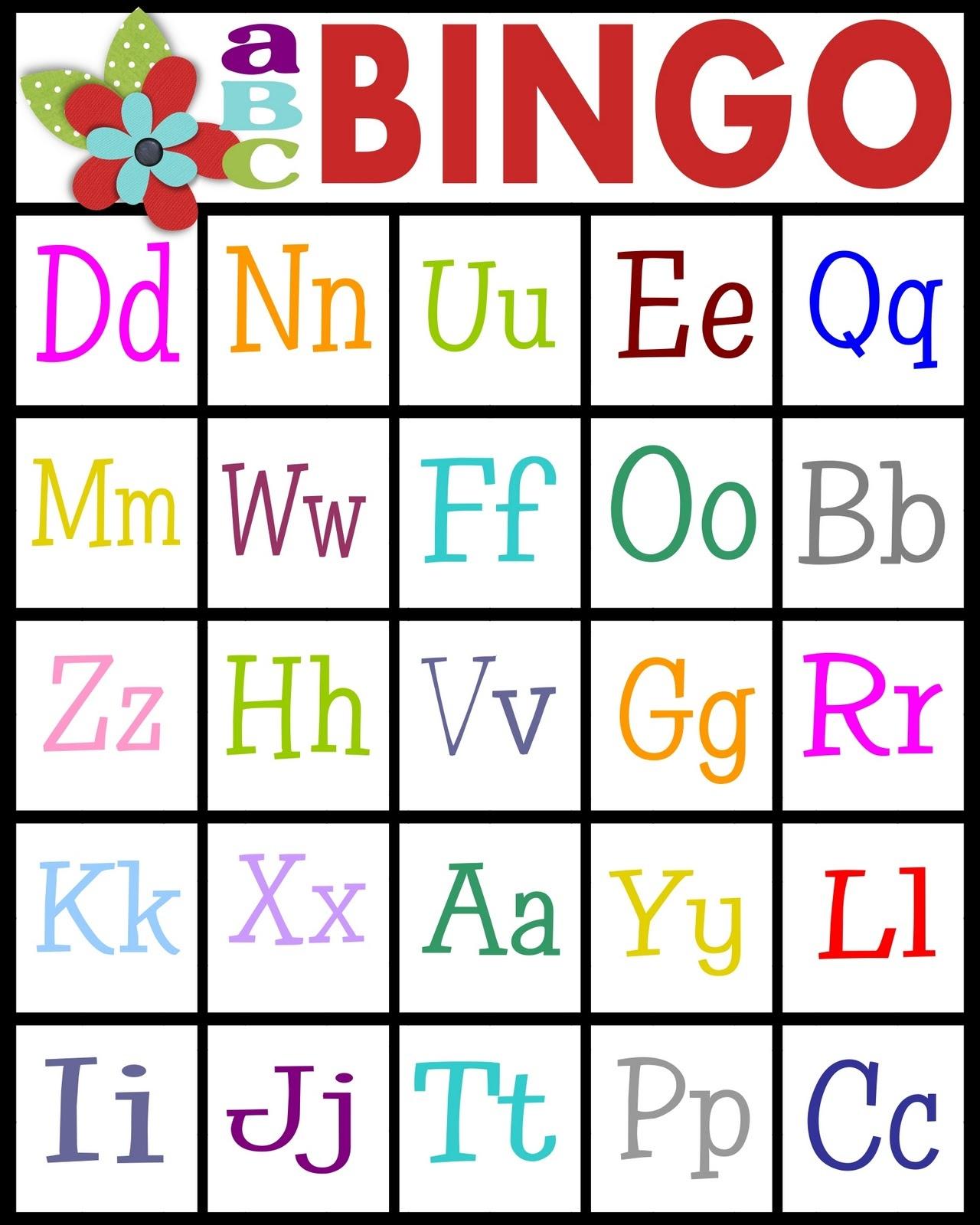 Sassy Sanctuary: Abc's Bingo- Free Printable! - Free Printable Alphabet Bingo Cards