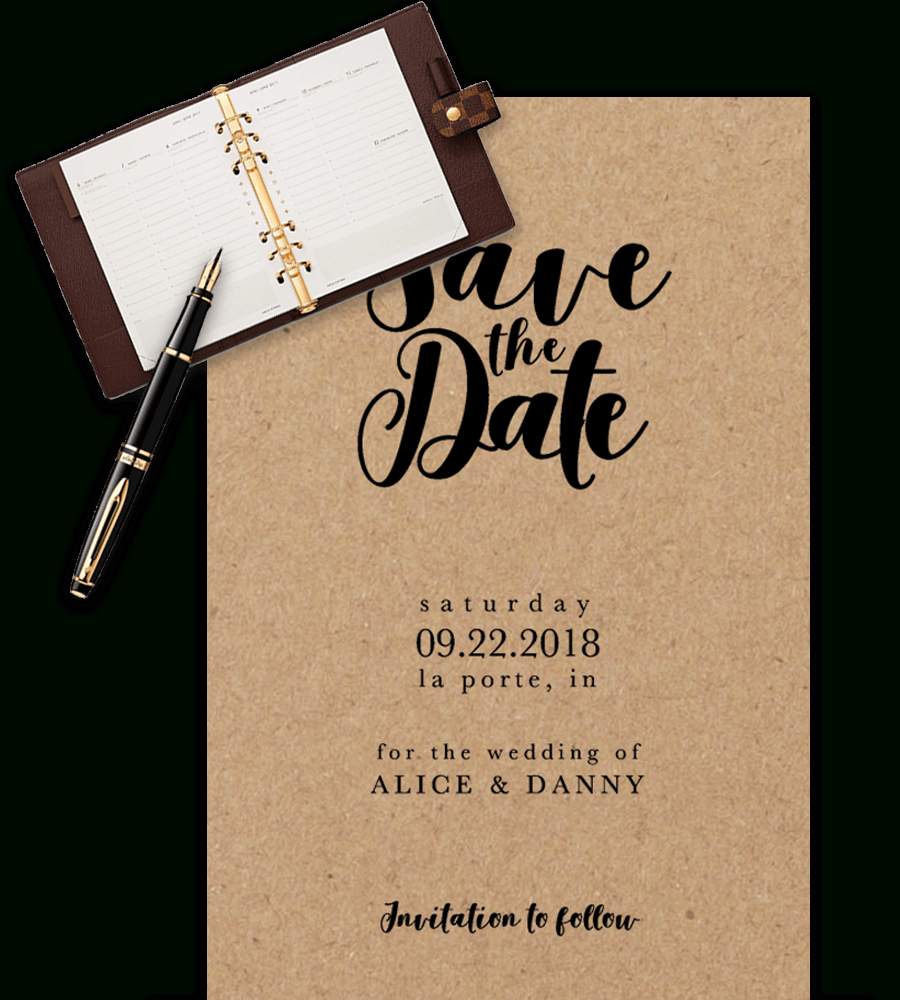 Save The Date Templates For Word [100% Free Download] - Free Printable Save The Date Invitation Templates
