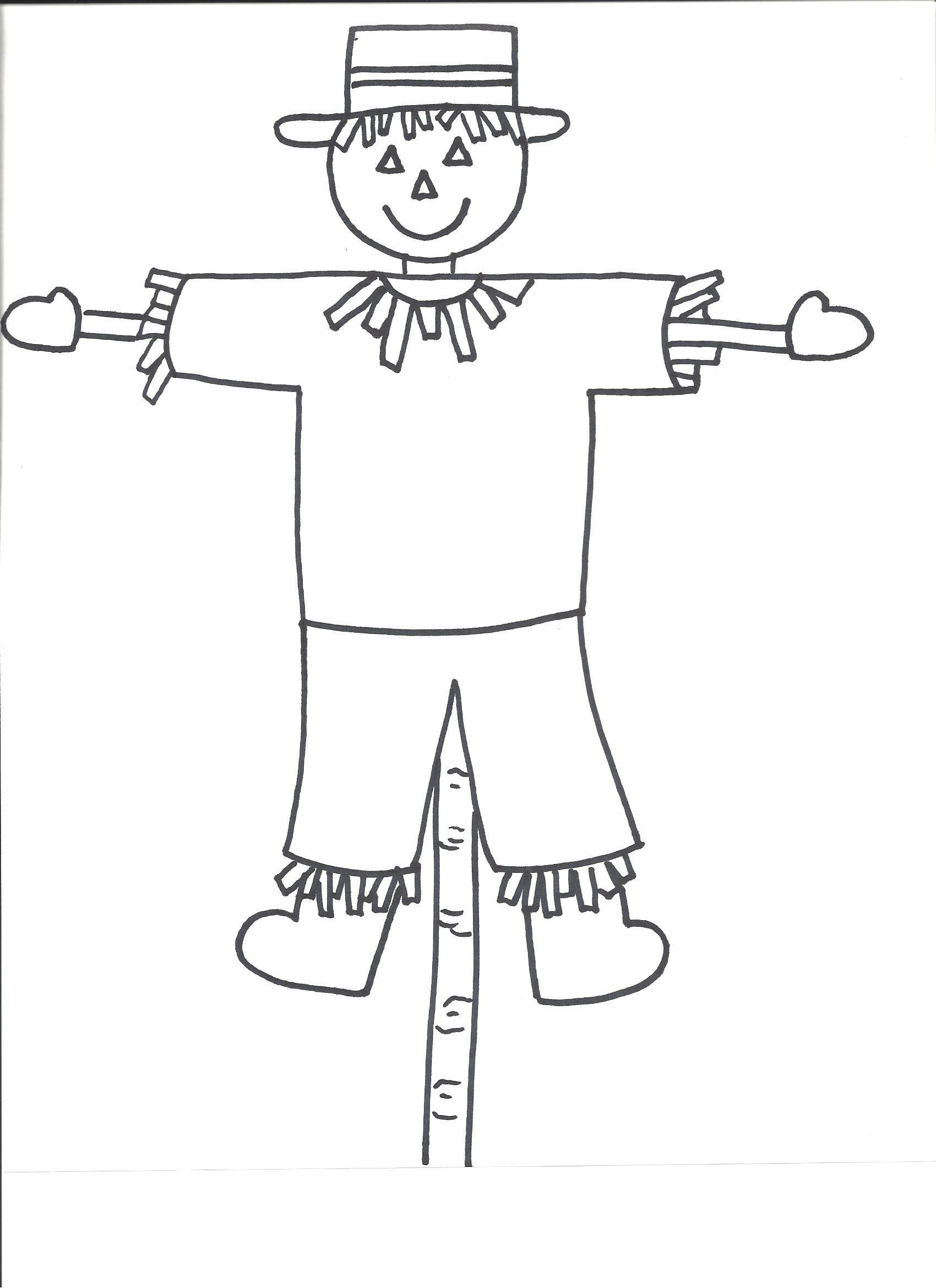 Free Scarecrow Template Printable | Free Printable