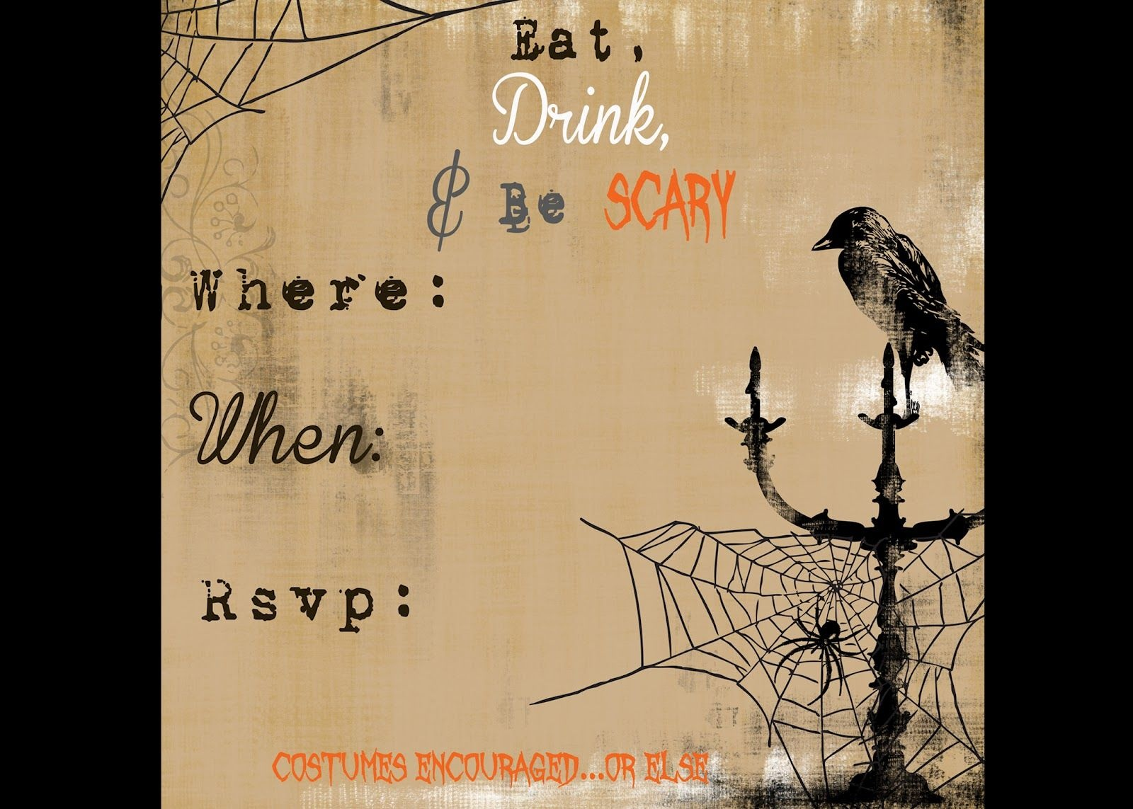 Scary Halloween Invitations Printable Free | Secrets Of A Modern - Free Printable Halloween Invitations For Adults