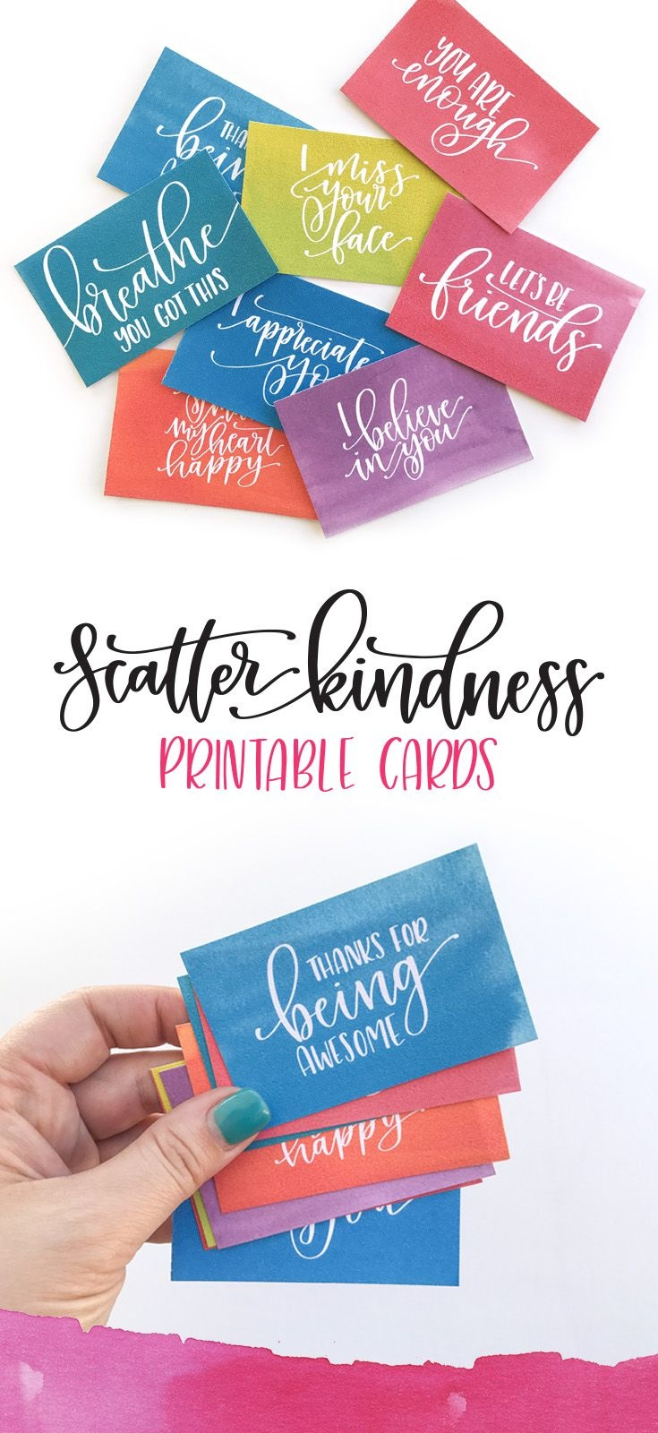 Scatter Kindness : Free Printable | Pretty Printables | Kindness - Free Printable Kindness Cards