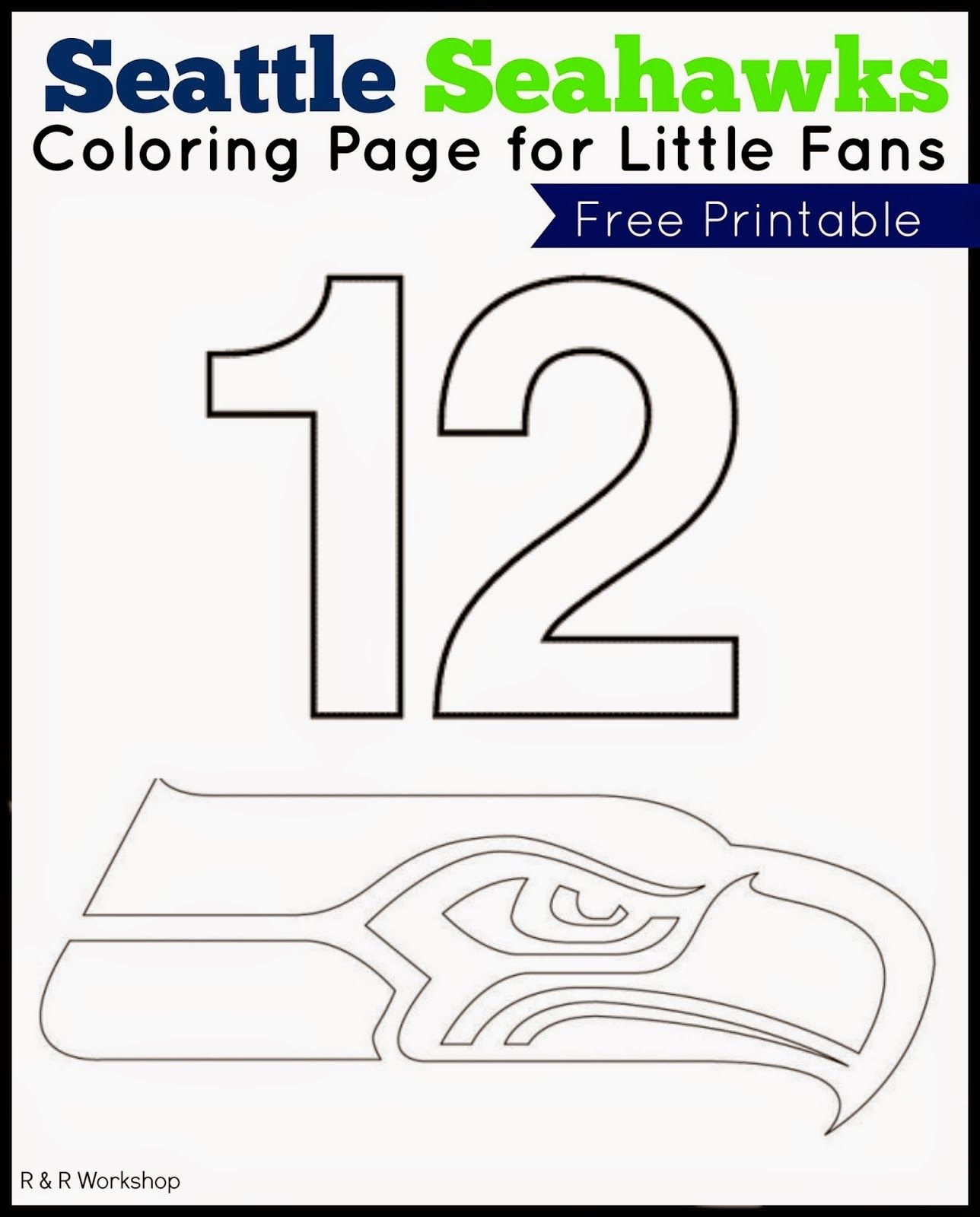 Free Printable Seahawks Coloring Pages   Free Printable