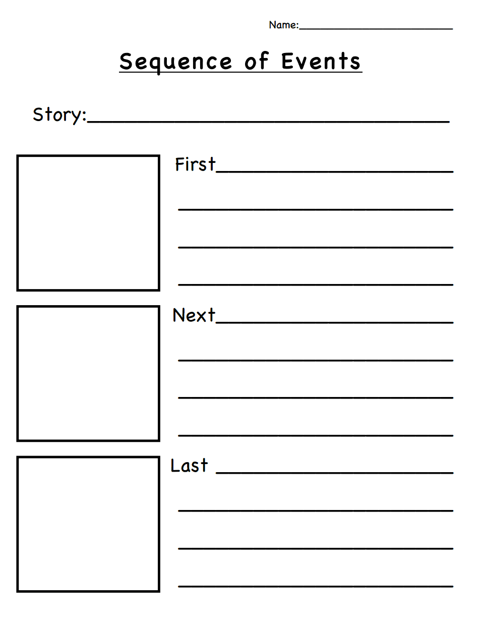 Sequence Of Events.pdf   Classroom Ideas   Sequencing Worksheets - Free Printable Sequencing Worksheets 2Nd Grade