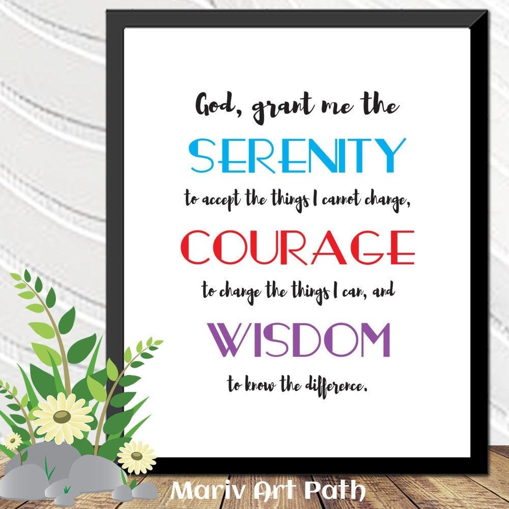 Serenity Prayer Printable Art Bible Verse Art Gift For Him | Etsy - Free Printable Serenity Prayer