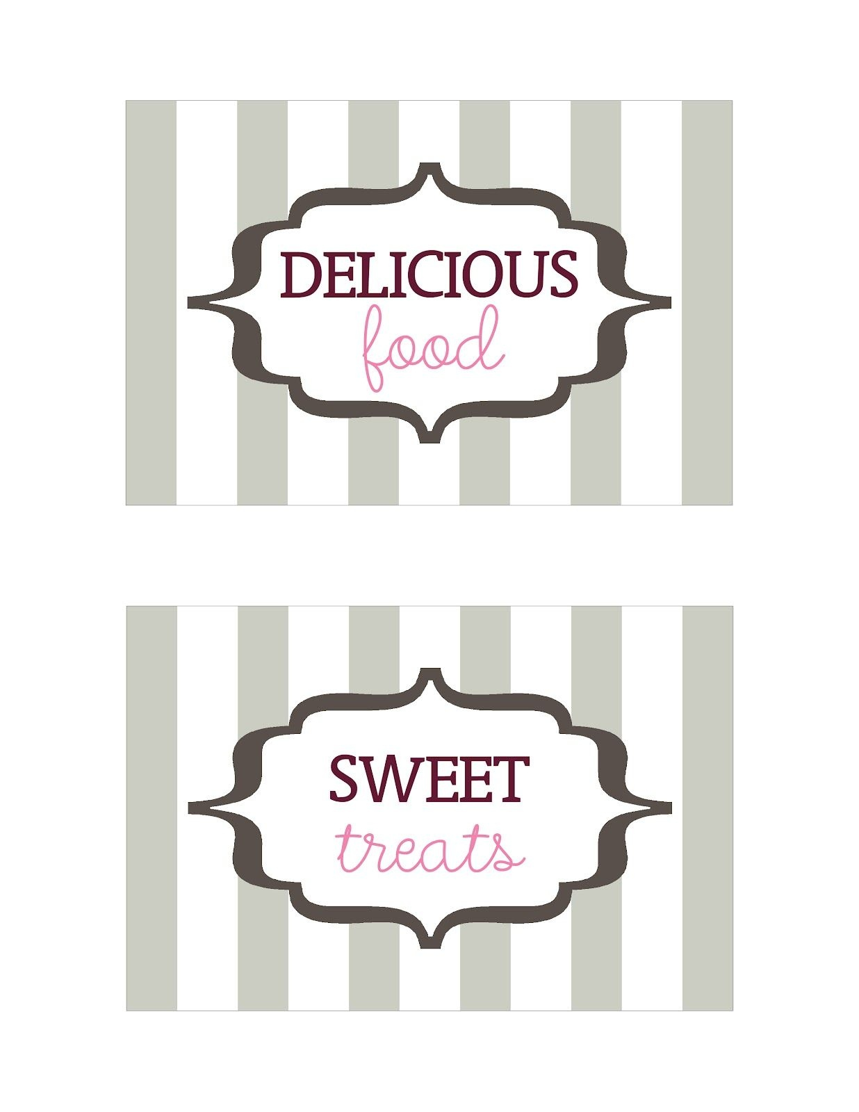 Seriously Daisies: Table Signs (Printable) | Oh Baby Baby Shower - Free Printable Baby Shower Table Signs