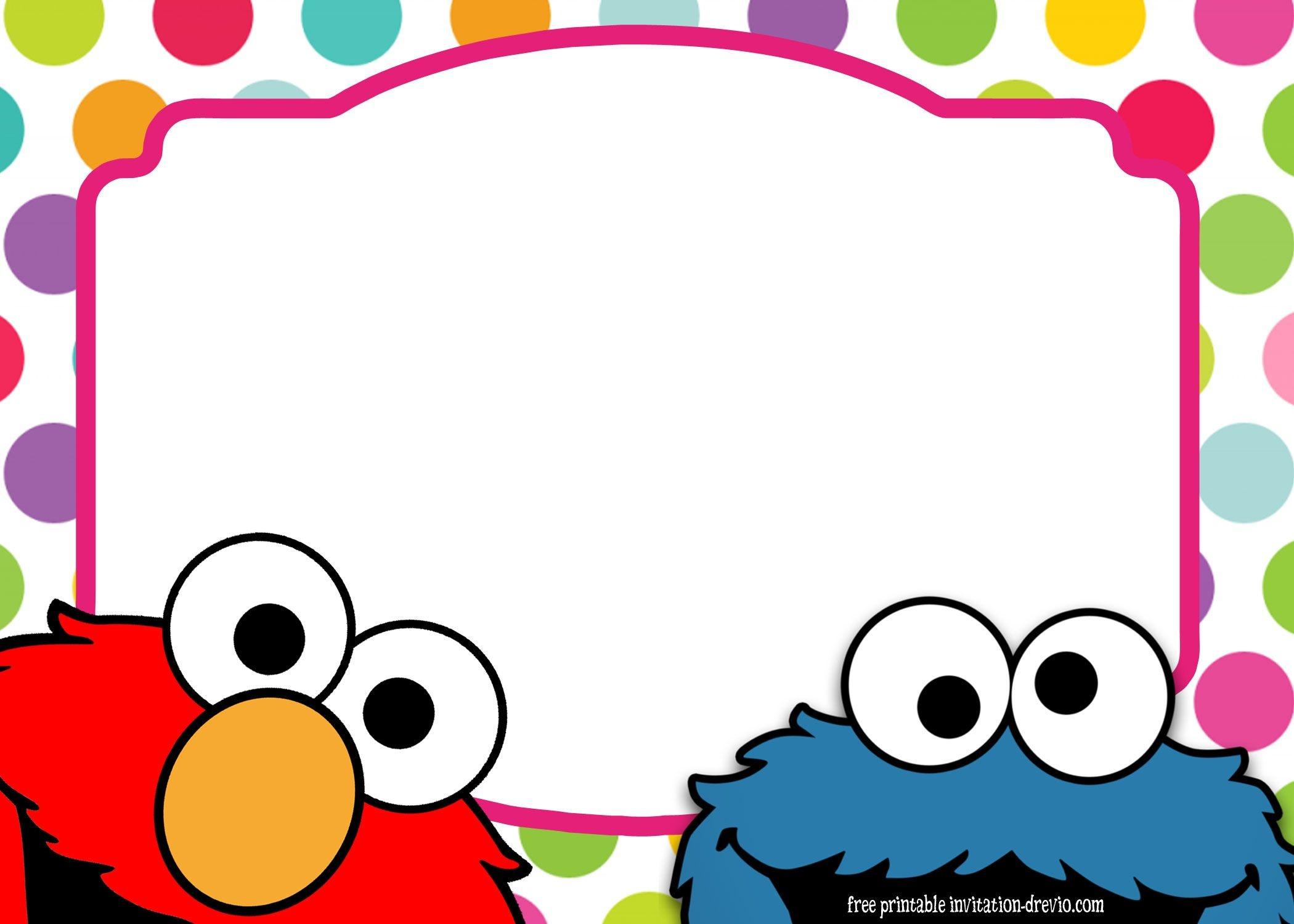 Sesame Street Twin Birthday Invitation | Free Printable Birthday - Free Printable Cookie Monster Birthday Invitations