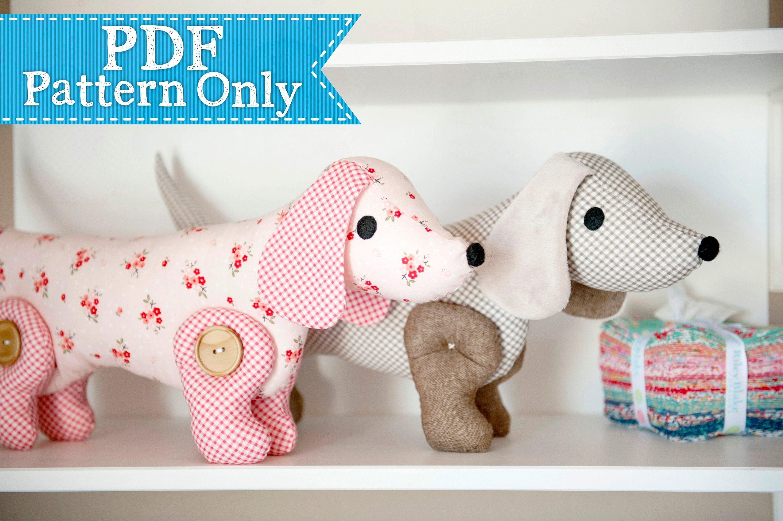 Sew-A-Long-Little-Doggy Dachshund Pdf Pattern Sewing Pdf | Etsy - Free Printable Dachshund Sewing Pattern