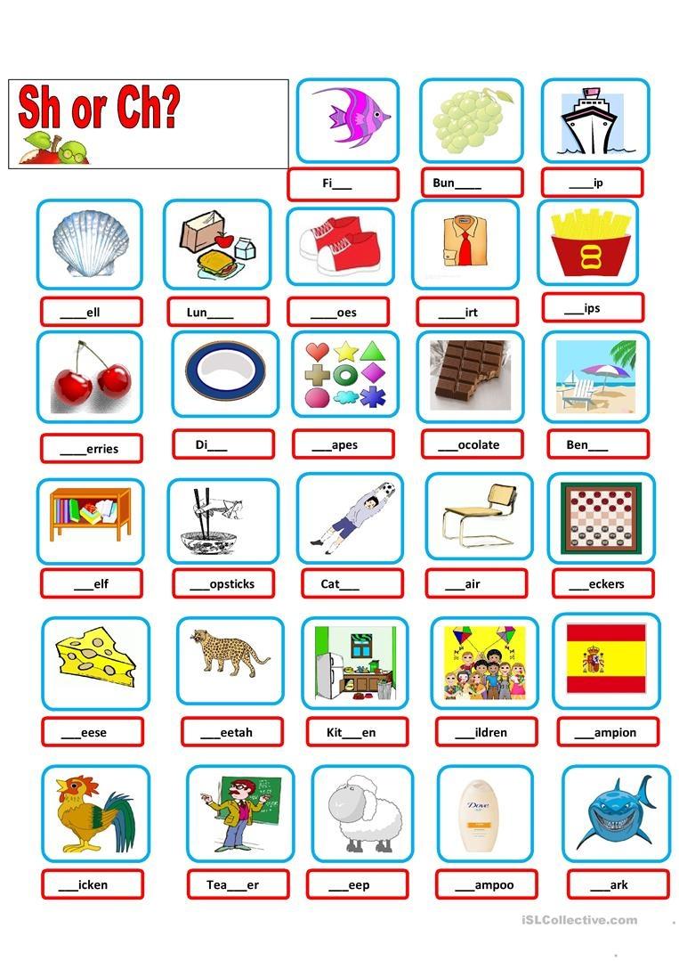 Sh-Ch Worksheet - Free Esl Printable Worksheets Madeteachers - Sh Worksheets Free Printable