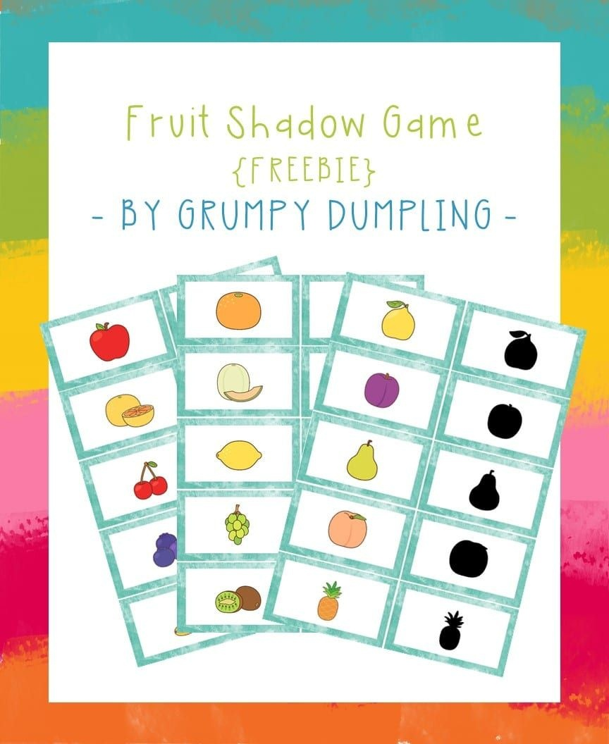 Shadow Memory Game With Fruit {Free Printable} | File Folder Games - Free Printable Fall File Folder Games