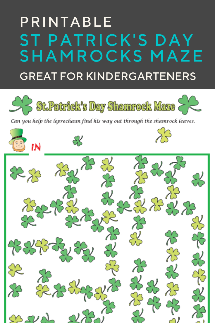 Shamrocks Maze | Elementary Activities And Resources | Maze - Free Printable St Patrick's Day Mazes