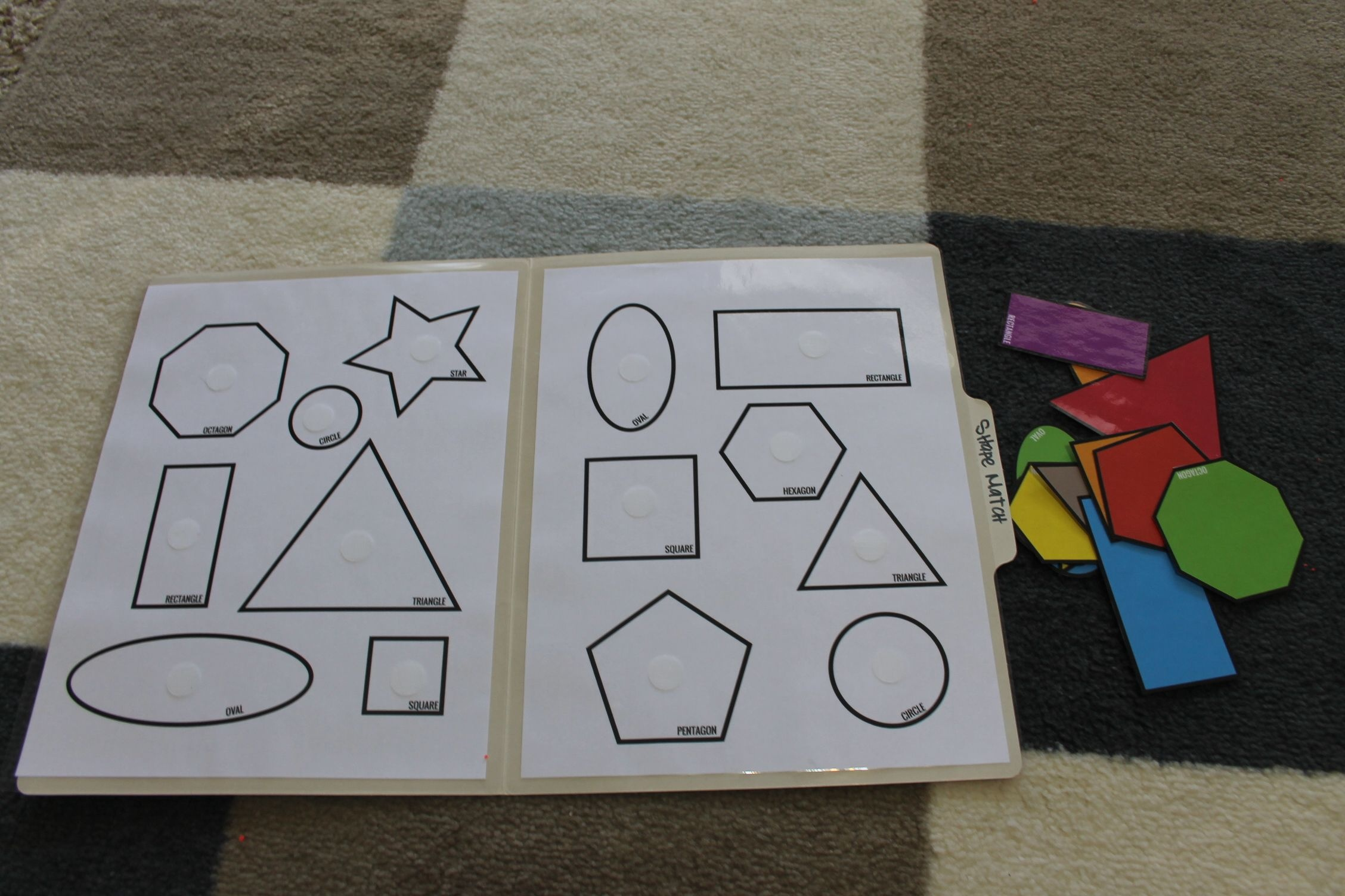 Shape-Match-Toddler-Pre-K-File-Folder-Game-Open   Vpk   Folder Games - File Folder Games For Toddlers Free Printable