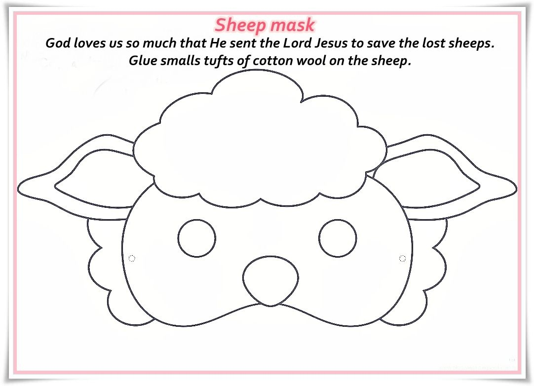 Sheep Mask Template - Demir.iso-Consulting.co - Free Printable Sheep Mask