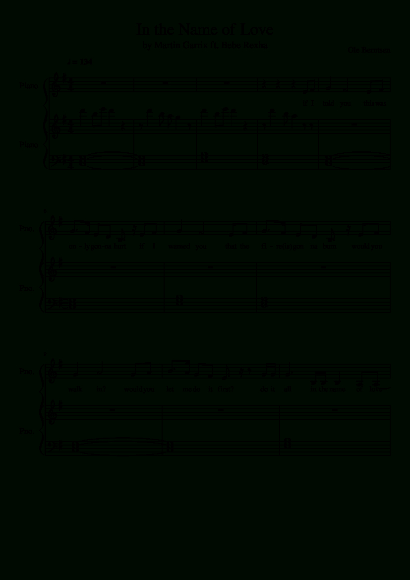 Sheet Music Madeoleberntsen For 2 Parts: Piano | Piano | Piano - Bad Day Piano Sheet Music Free Printable