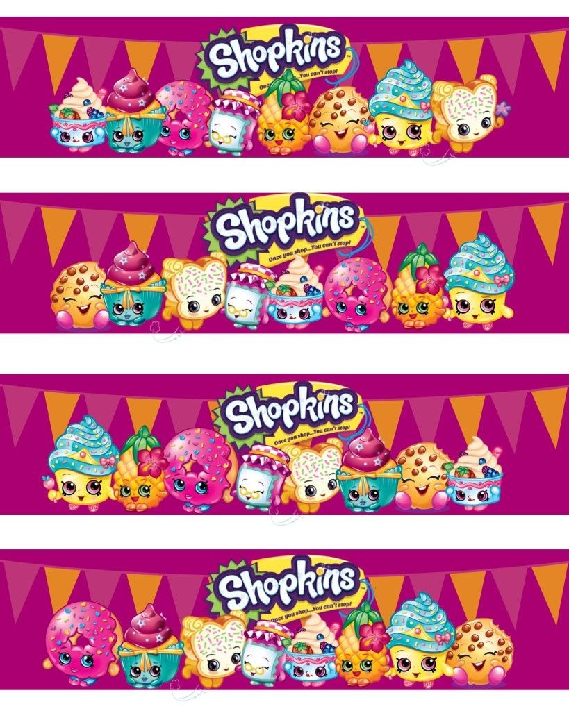 Shopkins Water Bottle Labels | Jamie's Shopkins Birthday Party - Shopkins Banner Printable Free
