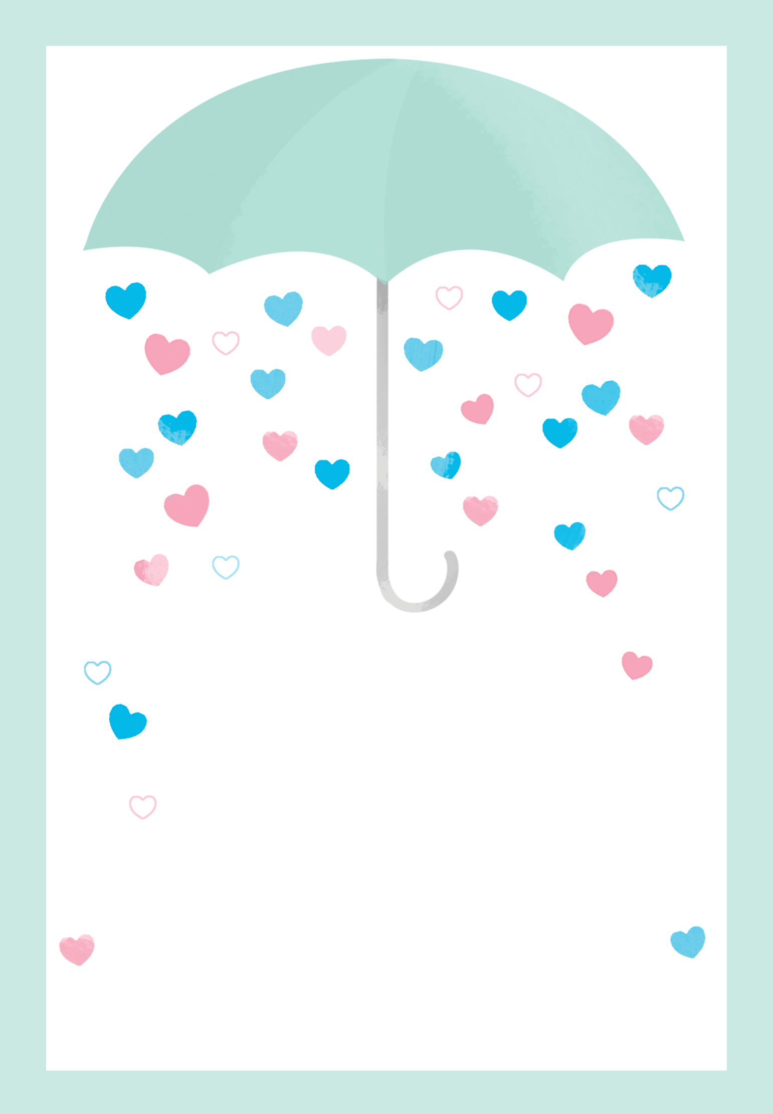 Shower With Love - Free Printable Baby Shower Invitation Template - Free Printable Gender Reveal Templates