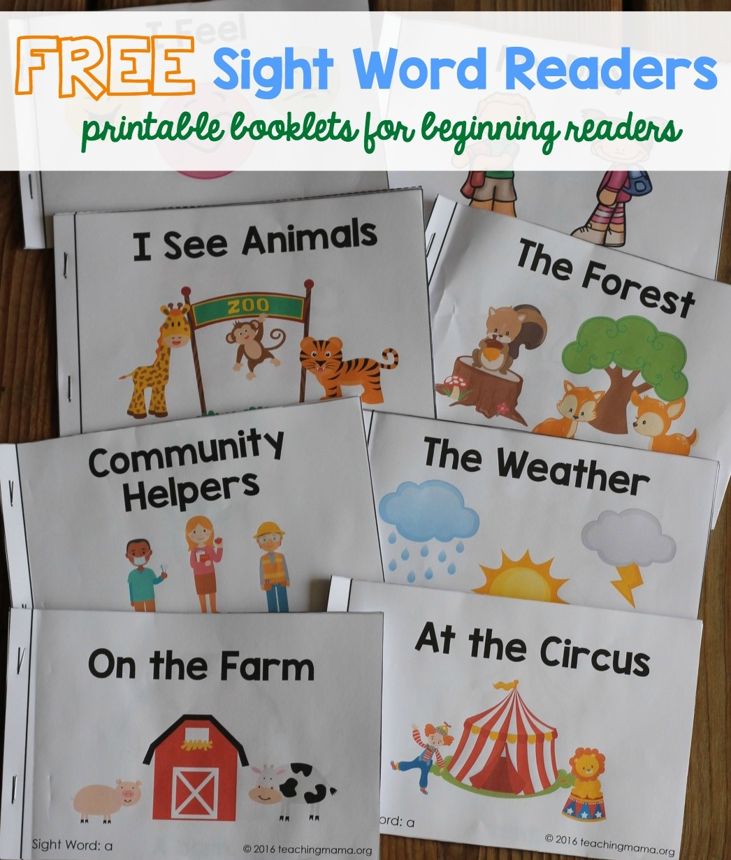 Sight Word Readers - Free Printable Books For Beginning Readers