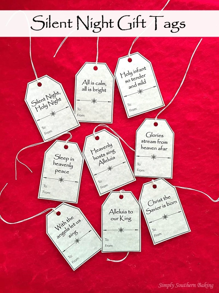 Silent Night Gift Tags Printable | Simply Southern Baking - Free Printable Baking Labels