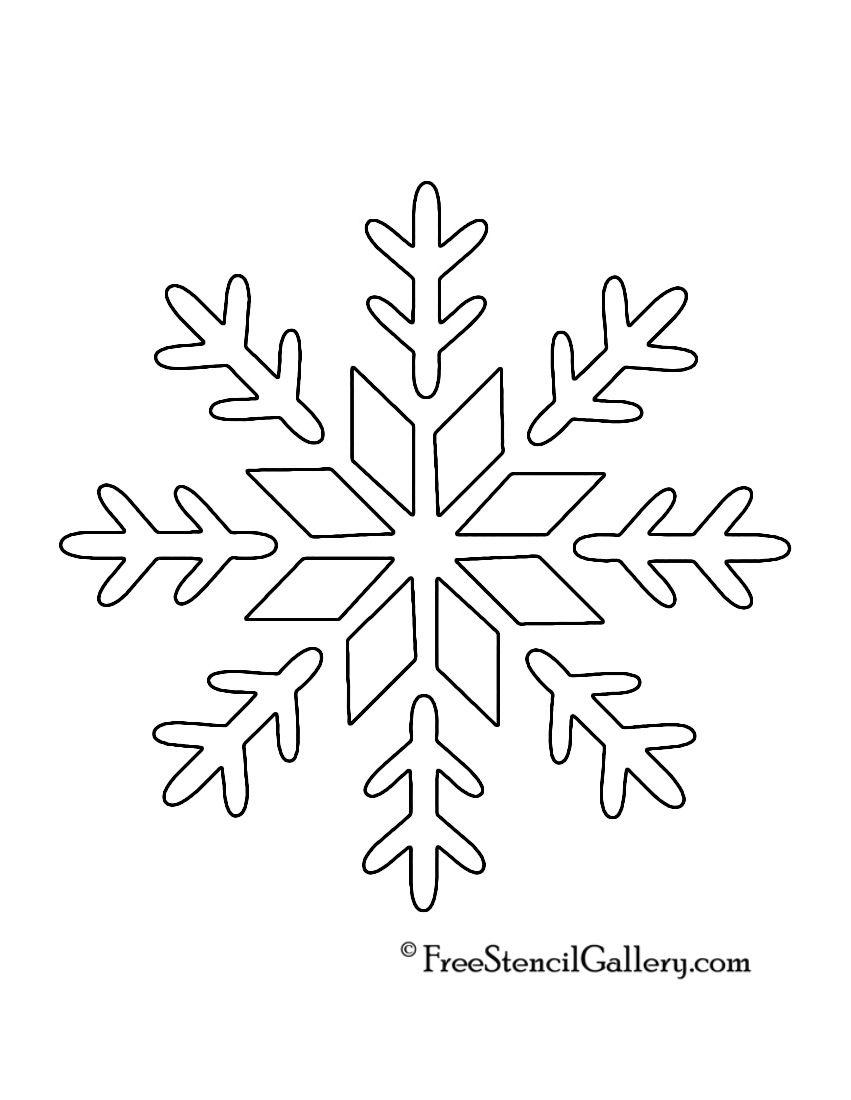 Snowflake Stencil 09 | Cards | Christmas Stencils, Snowflake Stencil - Free Printable Snowflakes